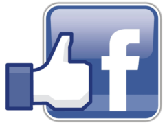 Facebook logo to contact us on