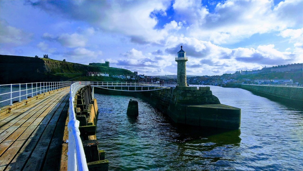 East pier now accessible with a new bridge in Whitby
