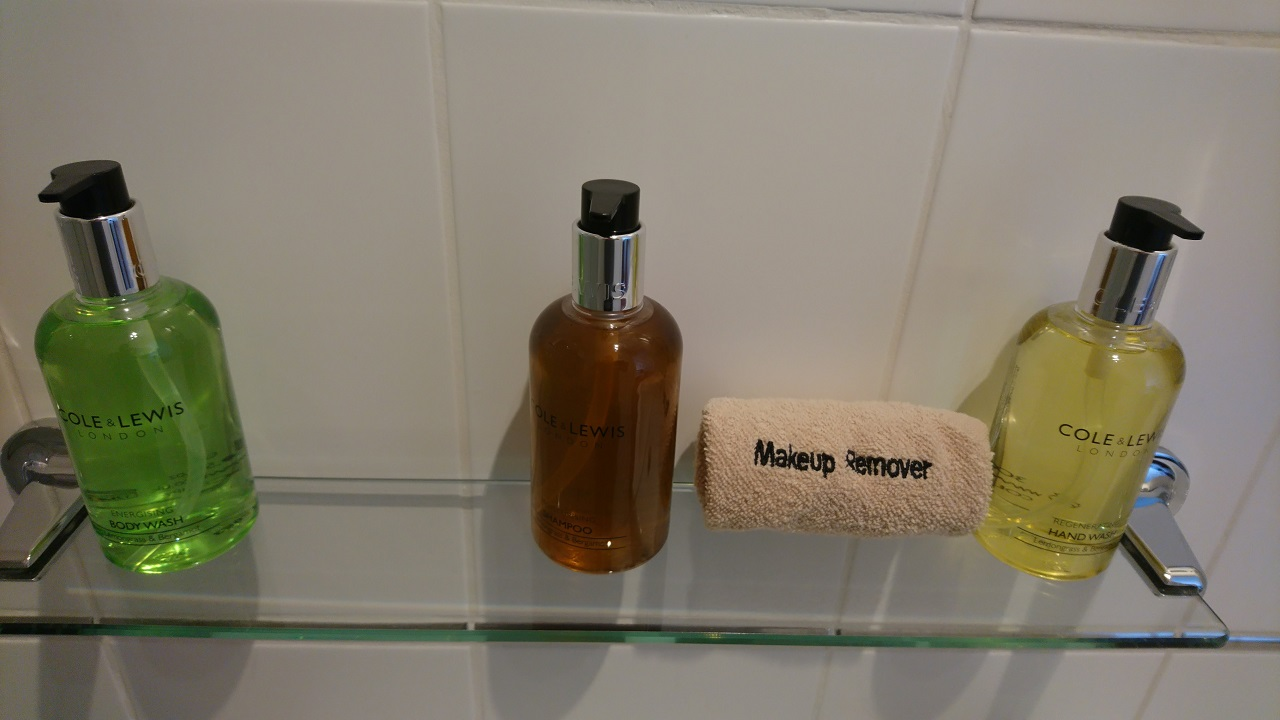 Image of the 3 complementary toiletries at The Lansbury - Handwash, Shower Gel and Shampoo